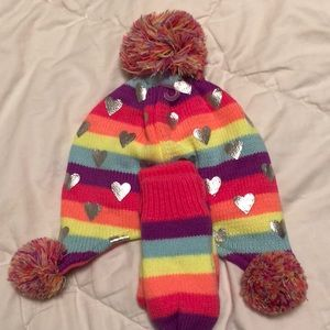 The Children's Place Hat & Mittens Set